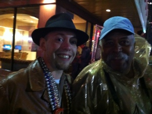 Me and my Mardi Gras buddy, Ernie