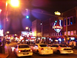 Beale Street. That's B.B. King's joint on the right.