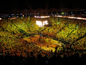 Imagine the NBA Finals being played here. Just imagine it.