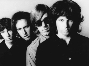 Even when magazines and newspapers ran obits for Manzarek (second from right), he's in Morrison's shadow