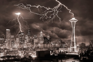Lightning struck the Niners in Seattle