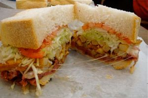 Look, mortals, upon the Primanti Brothers sandwich, and tremble