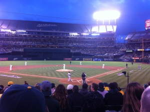 Where I was sitting for last year's Game 5