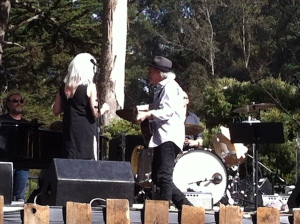 When you get this close to Emmylou Harris, no matter what else happened, you're a winner