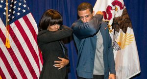 Yes, that's Michelle Obama Kaepernicking