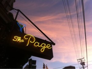 I always think of the Page's neon sign