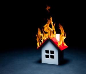 Aw, how cute: a tiny house burning down!
